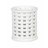 Parlane Ceramic Weave Tealight Holder - White