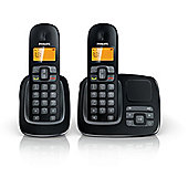 Philips CD1952B Twin Cordless Phone Handsets with Caller ID & Phonebook in Black
