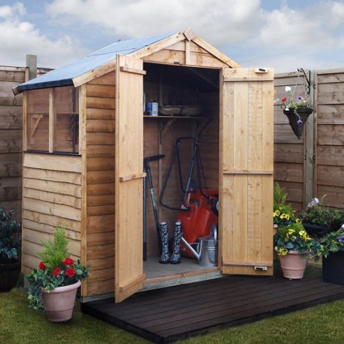 BillyOh 20 3 x 6 Rustic Overlap Apex Shed