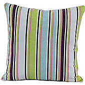 Homescapes Cotton Osaka Green Stripe Scatter Cushion, 60 x 60 cm