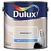 Dulux Matt Emulsion Paint, Almost Oyster, 2.5L
