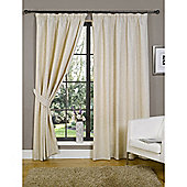 KLiving Pencil Pleat Java Lined Curtain 45x90 Natural