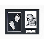 3D Baby Casting Kit - White Frame - Silver Paint