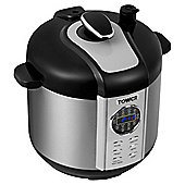 Tower Digital Pressure Cooker, 5L - Silver