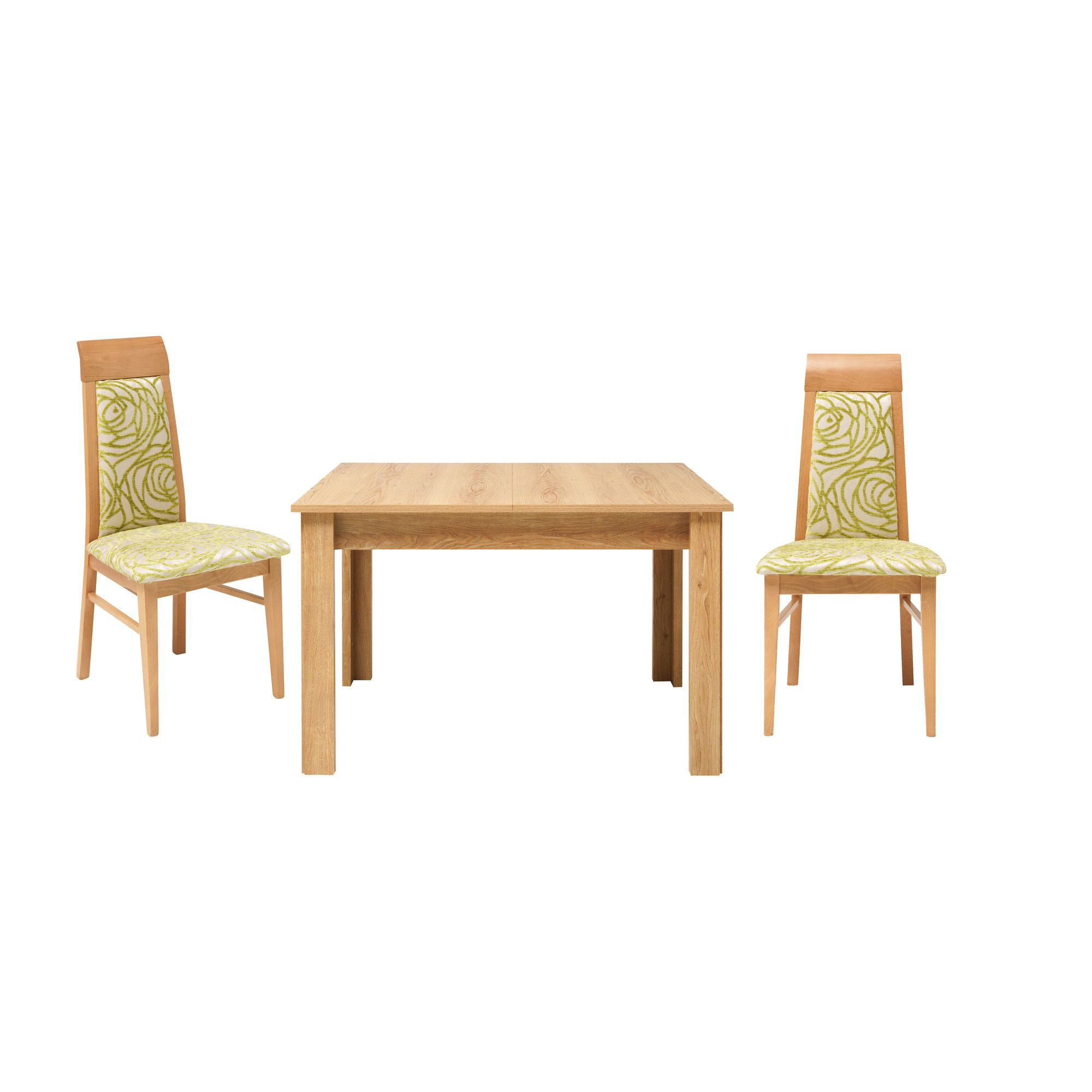 Caxton Darwin Dining Table Set with 4 Upholstered Chair in Chestnut at Tesco Direct