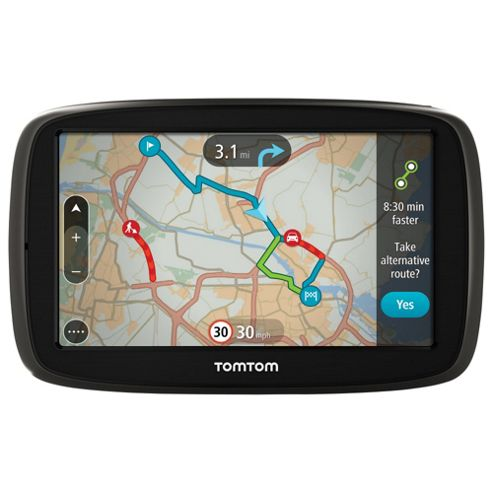 TomTom GO 50 5inch Sat Nav with Lifetime Western Europe Maps & Lifetime Traffic updates