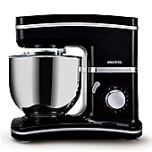 electriQ Stand Mixer 5.2 Litre 1500 Watt - Black with 3 Dishwasher Safe Attachments