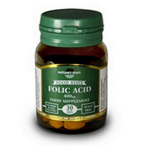 Natures Own Folic Acid 30 Tablets