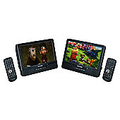 "Technika 9"" Dual-Digital screen In-car Portable DVD Player TKPDVD99212"