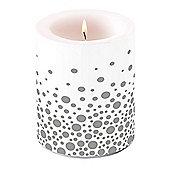 Ambiente 10 x 12cm Pillar Candle, Sparkling Dots Silver