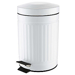 3L Bathroom Bin, White