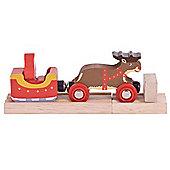 Bigjigs Rail Santa Sleigh with Reindeer