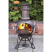Medium Toledo Bronze Chimenea with BBQ Grill