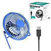 "Twitfish Metal USB Desk Fan 4"" - Blue"