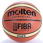 Molten BGM Schools Match Basketball Orange & Beige 12 Panels Size 6