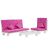 "Olivia's Little World - Little Princess 18"" Doll Furniture - Pink Lounge Set"