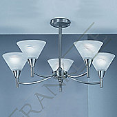 Franklite Harmony Five Light Ceiling Flush Mount - Satin Nickel