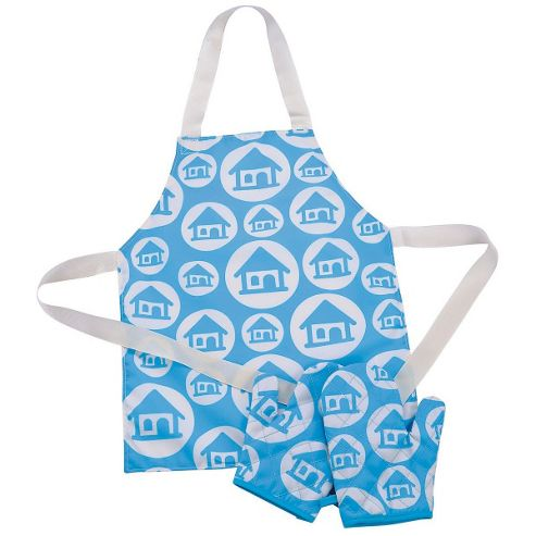 ELC Apron and Oven Gloves - Turquoise