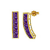 QP Jewellers 4.50ct Amethyst Prestige Earrings in 14K Gold
