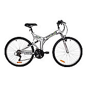 "Stowabike 26"" Folding Dual Suspension 18-Speed Shimano Gears Foldable Mountain Bike"