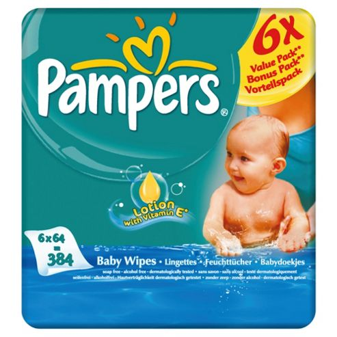 Pampers Baby Wipes Baby Fresh 6x 384