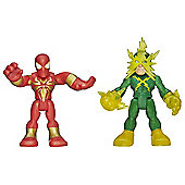 Playskool Super Hero Adventures Iron Spider-Man and Electro Double Pack