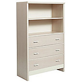 Fan Faro 3 Drawer Chest With Shelving Unit Top Cream Trims