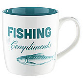 Tesco Fishing for Compliments Slogan Mug Single