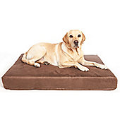 P & L Superior Pet Beds Machine Washable Premium Memory Foam Dog Mattress - Brown - Regular (12.5cm H x 76cm W x 101cm D)