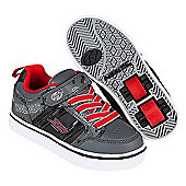 Heelys X2 Black and Red Bolt Skate Shoes - Size 1