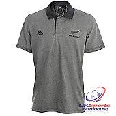 Adidas Mens All Blacks Ambassador Polo Shirt - Grey / Black - Grey & Black