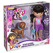 Fisher-Price Nickelodeon Dora and Friends Train & Play Dora and Perrito