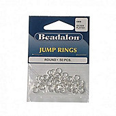 Beadalon Jump Ring 6mm Silver Plate 50Pcs