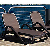 Nardi Alfa Lounger in Coffee