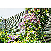 Contemporary Wooden Fence Panel, 4 pack, 180cm