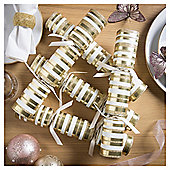 Gold and Cream Christmas Crackers, 6 pack