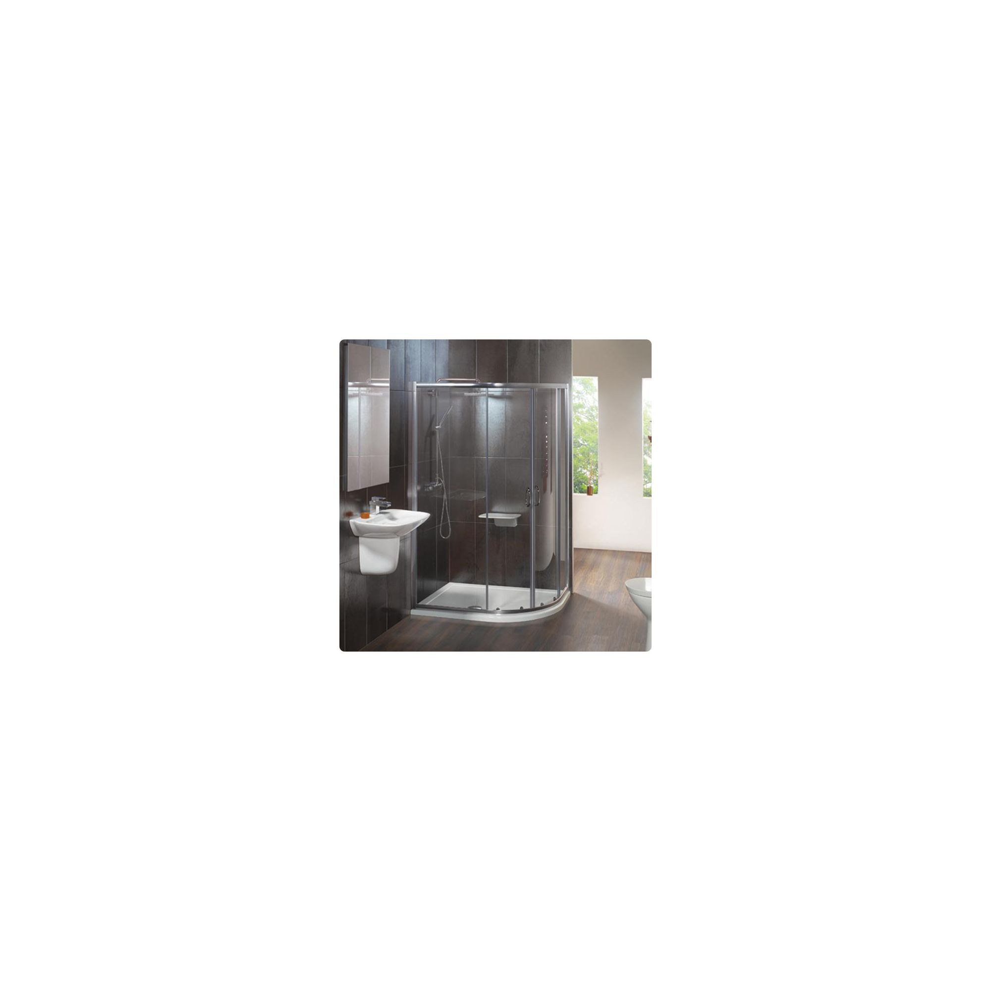 Balterley Offset Quadrant Double Shower Door, 1200mm x 800mm, 6mm Glass at Tesco Direct