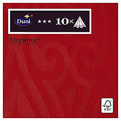 Duni Elegance Napkins, 40cm, 10 Pack, Red