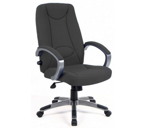 Office Basics Lucca Fabric Manager Chair - Charcoal