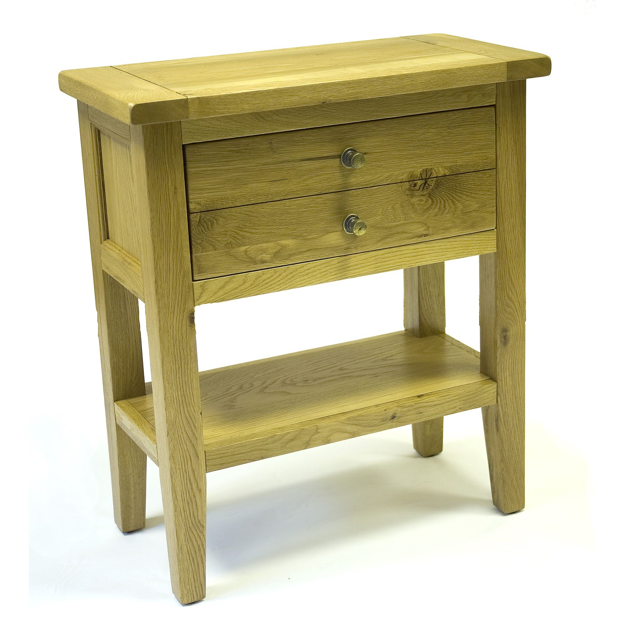 World Furniture Provence Two Drawer Console Table in Oak at Tesco Direct