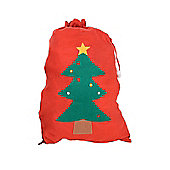 Large Felt Christmas Gift Bag Santa Sack - Single Red
