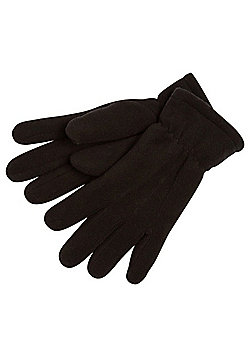 "F&F Fleece Gloves with Thinsulateâ""¢ - Black"