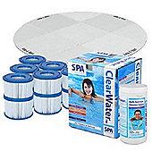 Bestway Lay-Z-Spa Bundle - Lay-Z-Spa Floor Protector, 12 Filters, Chemical starter set and 1kg Multifunction Tabs