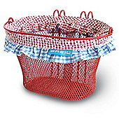 "Basil Jasmin Farm Kids Front Oval Bike Basket 12-20"" Red"