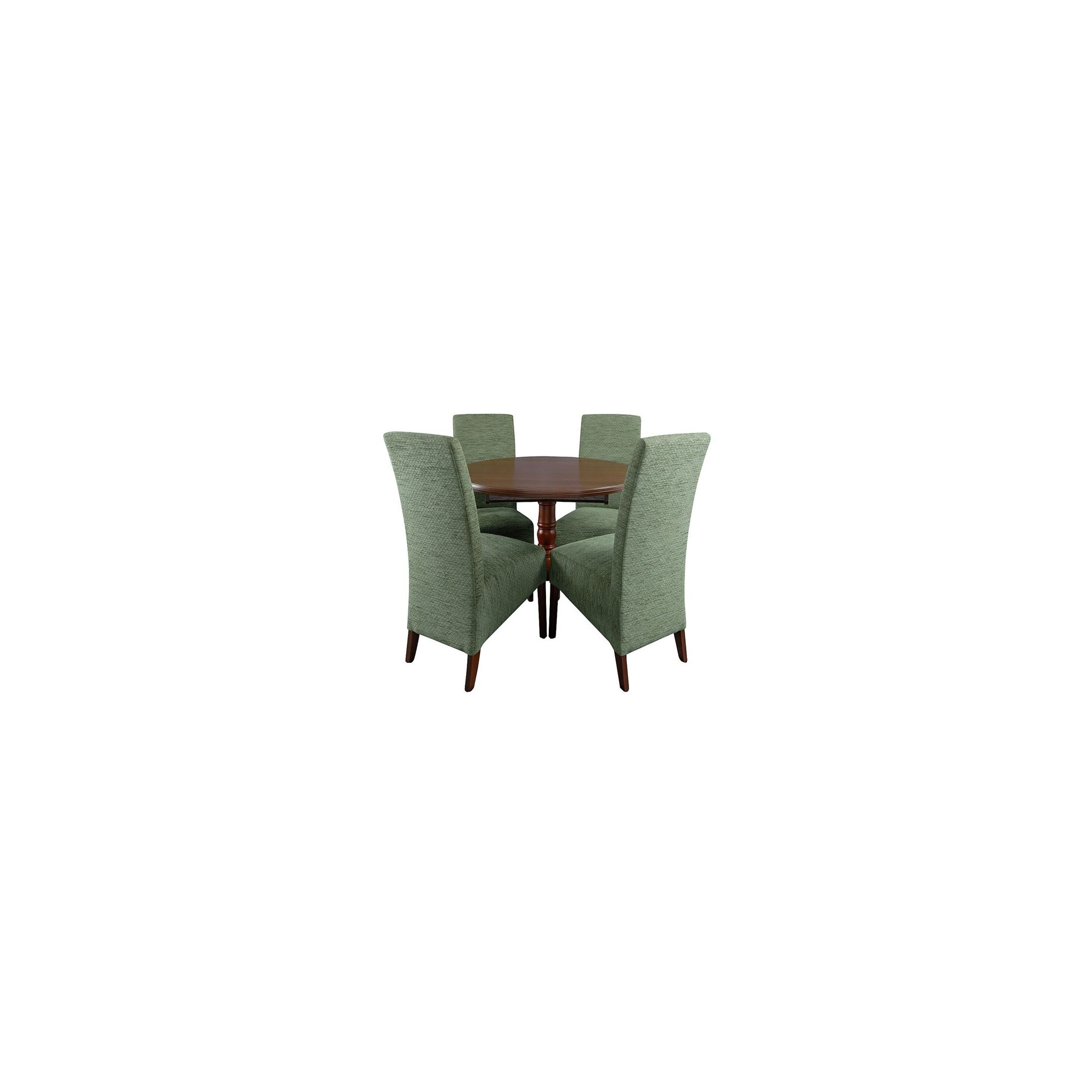 Caxton Lincoln Single Pedestal Circular 4 Chair Dining Set in Cherry - Green at Tesco Direct