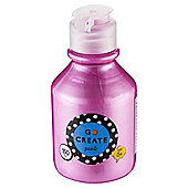 Go Create Ready Mixed Pearlescent Paint 150ml - Pink