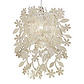 Leaves & Flowers Ceiling Pendant Light Shade in Cream