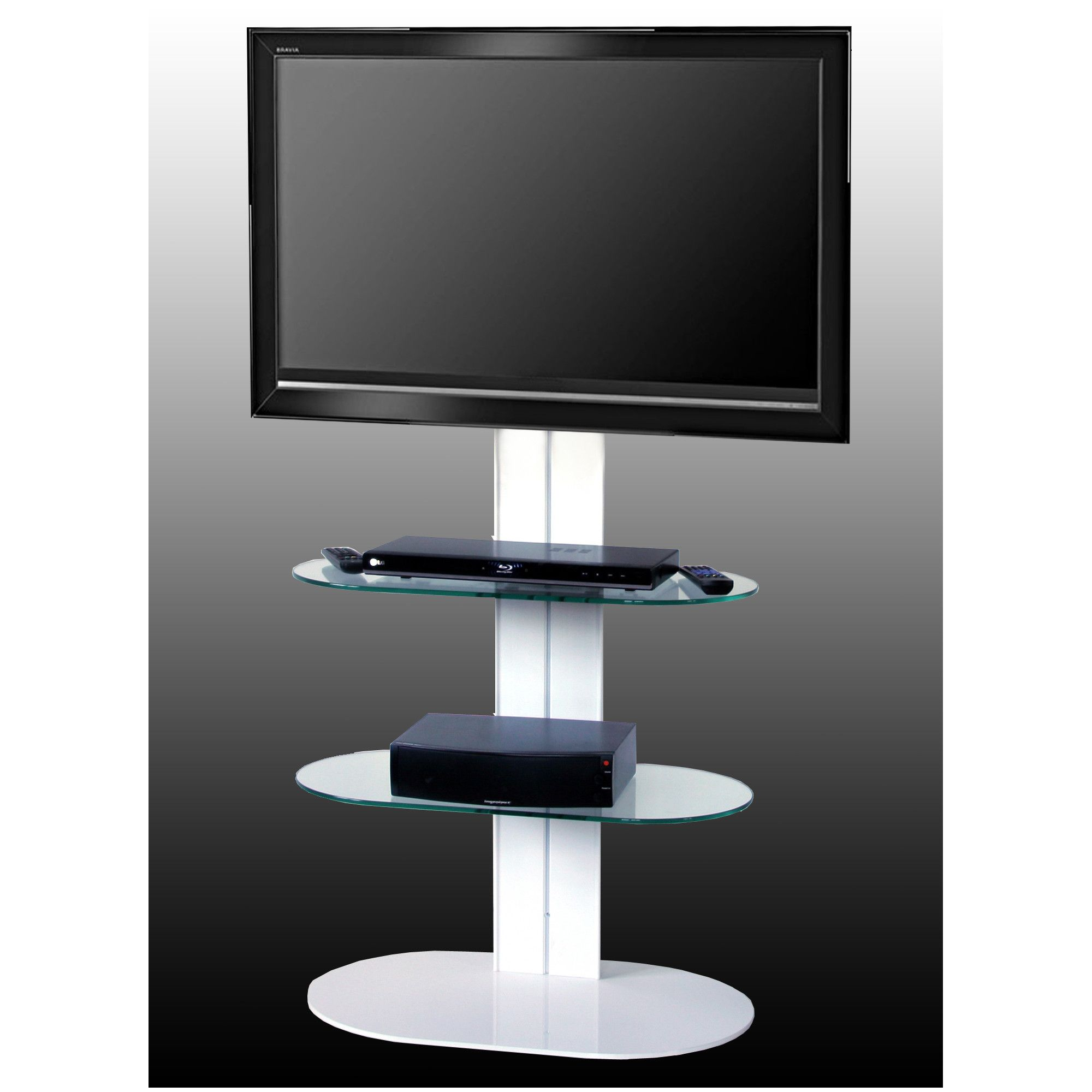 OMB Totem 1500 TV Stand - White at Tesco Direct
