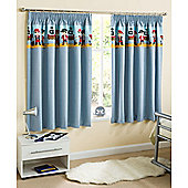 Pirate Blue Thermal Blockout Curtains - 168 X 183 cm