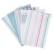 Dobby Tea Towels, Pastel, 5 pack